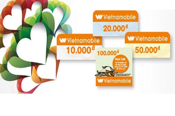 Các mệnh giá và ngày sử dụng của thẻ cào Vietnamobile