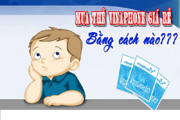 Hướng dẫn mua thẻ Vinaphone 10k, 20k, 50k, 100k