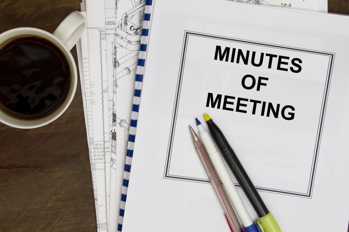 Cách ghi nội dung trong biên bản cuộc họp