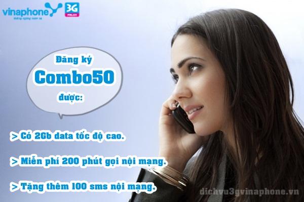 Cách đăng ký gói cước COMBO50 của Vinaphone nhanh nhất