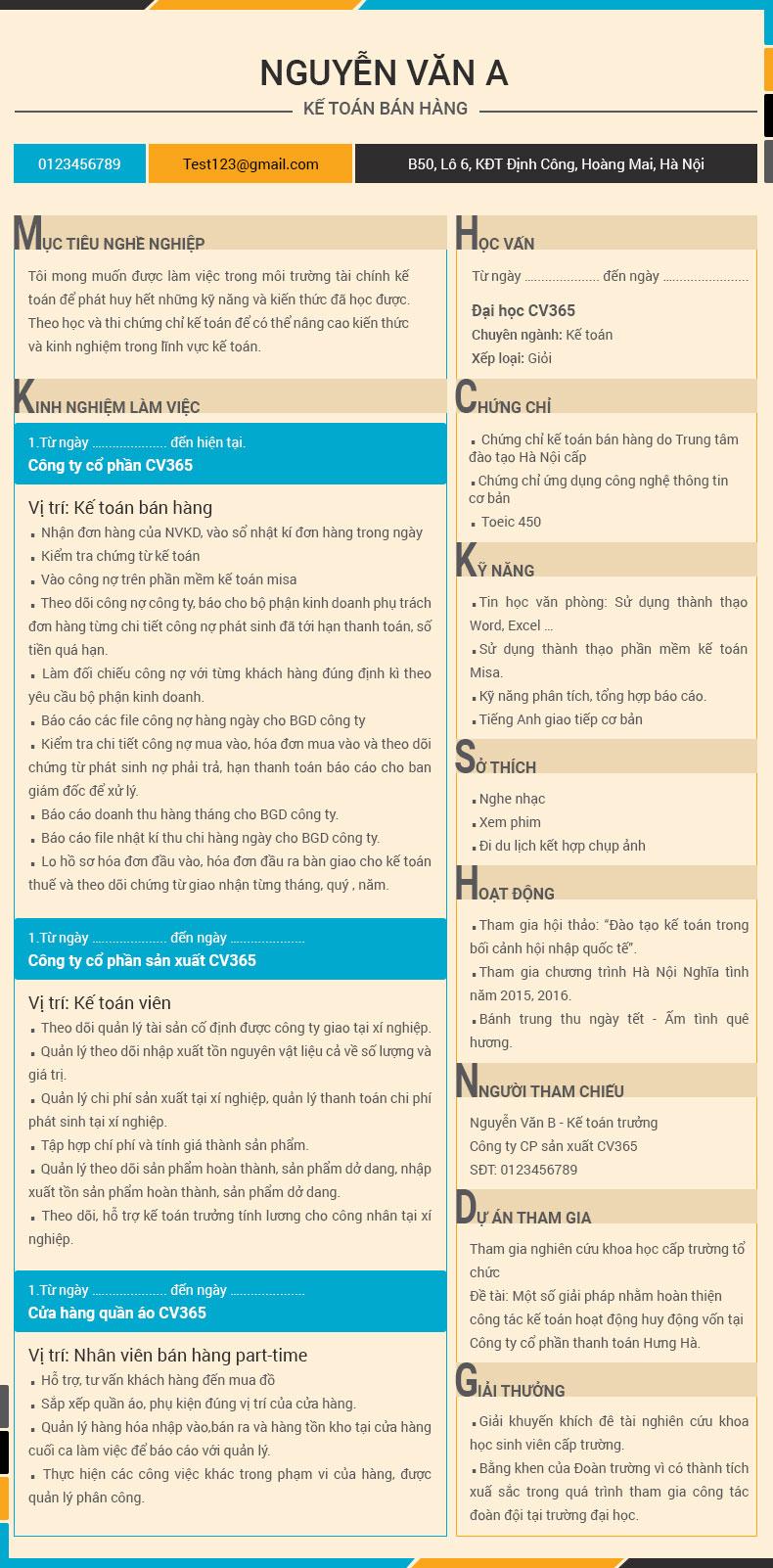 Cách viết cv xin việc ấn tượng bằng việc liệt kê những tính cách tốt của ứng viên