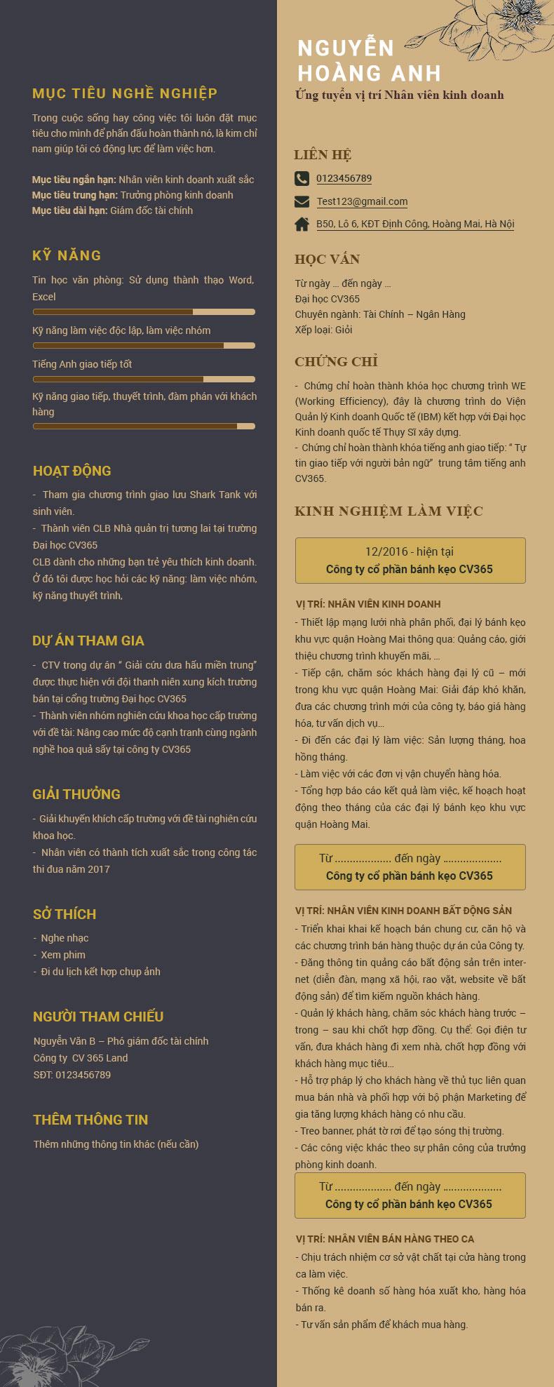 Hướng dẫn tạo cv online miễn phí tại timviec365.vn