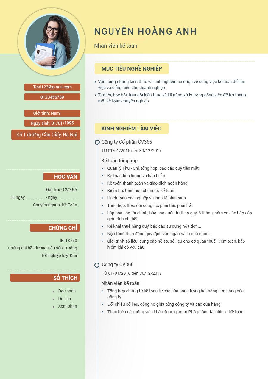 Hướng dẫn tạo cv xin việc bán thời gian tại timviec365.vn